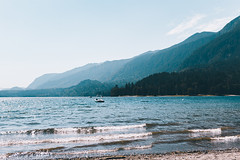 Layers (Top KM) Tags: lake water beach sunny summer mountains waves blue canada british columbia waterscape sunshine sunlight no person nobody outdoors outdoor outside landscape beautiful nature travel summertime scenic trees sky warm cultus