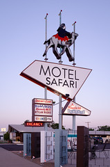 The Motel Safari (dangr.dave) Tags: tucumcari nm newmexico route66 quaycounty downtown historic architecture neon neonsign motelsafari camel