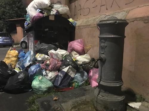 Drinking water fountain in Rome Garbatella