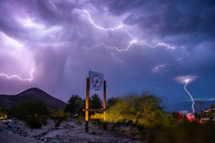 Electric Panamint (J.T. Dudrow Photography) Tags: weather weather2018 californiaweather monsoon monsoon2018 deathvalley deathvalleynationalpark lightning panamintspringsresort california
