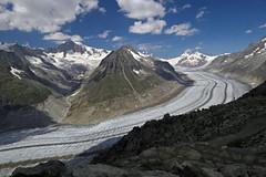 The mighty Aletsch glacier (aniko e) Tags: glacier ice alps switzerland gletscher aletsch mountains summer travel hiking clouds