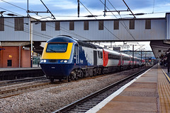 43163 + 43272 - Peterborough - 02/10/18. (TRphotography04) Tags: scot rail hst 43163 on hire lner passes through peterborough with 1s26 1700 london kings cross edinburgh
