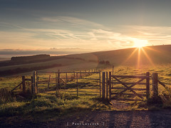 Falmer Sunrise (amipal) Tags: country countryside england f8 falmer fields gb grass greatbritain green sky southdowns starburst sun sunrise sussex uk unitedkingdom voigtlander manuallens 175mm nokton