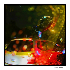 wet  windshield (harrypwt) Tags: harrypwt 11 square canons90 s90 jakarta night light street abstract