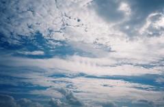 Brean sky (knautia) Tags: brean somerset england uk october 2018 film ishootfilm olympus xa2 olympusxa2 kodak ektar 100iso nxa2roll81 daytrip seaside footpath nationaltrust breandown sky clouds