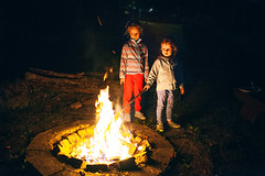 Campfire (mravcolev) Tags: child kids portrait campfire fire dark night mood canoneos5dmarkii 5dmkii 35l canonef35mmf14lusm high iso