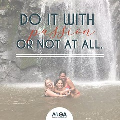 There's no better place to figure out what you're passionate about than under a waterfall with a supportive team! ⛲️ It is all or nothing! 💯🙌 (MGABusinessConsulting) Tags: mga business consulting phoenix team entrepreneurship company culture small leadership development built for success