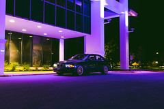 IMG_0379 (Alex Wilson Photography) Tags: bmw e39 530i auto manual swap please 5 series 5er bimmer beamer sweet fast black gold bbs rims wheels tires rainbow purple building light cool long exposure