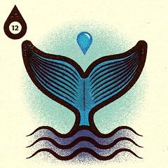 Inktober - Day #12 - Whale. (alexeizm{alexei vella}) Tags: texture experiment vector vectorart personal illustrator illustration art graphic design test retro alexei alexeivella inktober inktober2018 inktoberday12 whale