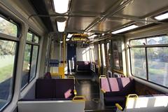 Interior of EMU at Shorncliffe, Brisbane (philip.mallis) Tags: brisbane shorncliffe train traininterior queenslandrail