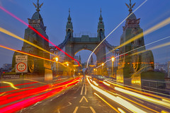 The butterfly effect (Hammersmith Bridge, London, United Kingdom) (AndreaPucci) Tags: hammersmith bridge london uk traffic night andreapucci victorian