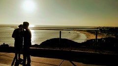 Sunset Couple (leighklotz) Tags: couple sunset beach california pacific coast silhouette romantic ocean