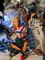 """Barbie is all in Knots   """"smile on saturday"""" (marieschubert1) Tags: christmas light string barbie doll fashion knotsobad smileonsaturday"""