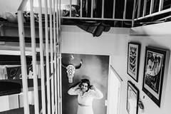 Anja (Yuliya Bahr) Tags: frame girl woman wedding bride bridalpreparations gettingready getready bw monochrome home portrait design interior