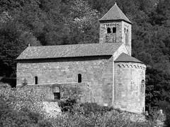 Sahorre Saint Etienne church (tofbruno) Tags: romanchurch church roman bw saint etienne saintetienne blackandwhite pyrénéesorientales noiretblanc