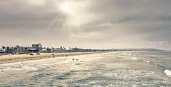 (Linda Goodhue) Tags: landscape beach sandiego california missionbeach ocean pacificocean sun sunrays sunlight sumer surfers sand sky clouds travel vacation travelphotography lindagoodhuephotography olympusomdem5mii mirrorlesscamera dxo
