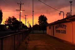 Paramount Sunset (Darren Schiller) Tags: dubbo sunset tennis club newsouthwales fence night