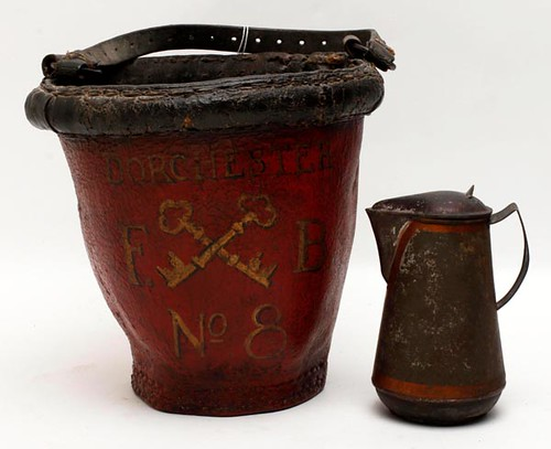 Dorchester Fire Co. #8 leather fire bucket ($156.80)