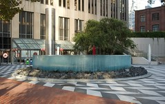 Water fountain near the FiDi (Peter Hosey) Tags: sf sanfrancisco publicart art fountain waterfountain waterfeature