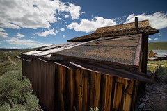 DIY Roof (CameraOne) Tags: roofing bodie ghosttowns owens valley california cameraone abandoned ruins urbandecay wideangle raw statepark canon1740mm canon6d clouds backlight southwest
