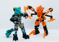 Some Halloween Fun (0nuku) Tags: bionicle lego halloween costume dressup kopen eltanin tarakava fikou light av matoran