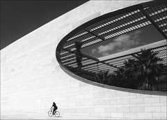 F_MG_1524-1-BW-2-Canon 6DII-Canon 16-35mm-May Lee 廖藹淳 (May-margy) Tags: maymargy fmg15241bw2 portrait architecture wall opening plants oval bicycle humaningeometry humanelement streetviewphotography mylensandmyimagination naturalcoincidencethrumylens lisbon portugal canon6dii canon1635mm maylee廖藹淳 人像 腳踏車 現代建築 幾何構圖 點人 黑白 bw 里斯本 葡萄牙 長方形 街拍 線條造型與光影 天馬行空鏡頭的異想世界 心象意象與影像 台灣攝影師 taiwanphotographer