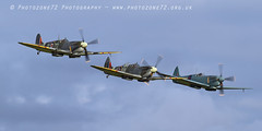 7442 Spitfires (photozone72) Tags: duxford iwmduxford airshows aircraft airshow aviation canon canon7dmk2 canon100400f4556lii 7dmk2 warbirds wwii spitfire