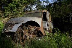 2cv Citroen (à l'oeil de verre photographie) Tags: fôret rouille épave wreck old car 36 brenne