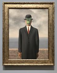 The Son of Man by Rene Magritte (orange27) Tags: sanfranciscomuseumofmodernart sfmoma sanfrancisco california unitedstates northamerica