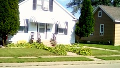 Neighborhood house - SFS (Maenette1) Tags: house white stairs neighborhood menominee uppermichigan saturdayforstairs flicker365 allthingsmichigan absolutemichigan projectmichigan