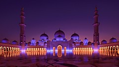 Symmetry (Sanjiban2011) Tags: sheikhzayedgrandmosque abudhabi uae middleeast architecture symmetry pattern reflection islamicarchitecture nightphotography bluehour minarette outdoor longexposure travel traveldestination touristattraction nikon fullframe d750 tamron tamron1530 wideangle