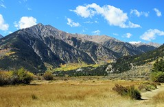 Path to Some Peaks (Patricia Henschen) Tags: topoftherockies scenicbyway twinlakes colorado mountain mountains sawatch range lakecounty sanisabelnationalforest aspen leafpeeping fallcolor fall clouds nationalforest sanisabel usda forestservice recreationarea pathscaminhos