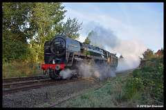 No 70013 Oliver Cromwell 7th Oct 2018 Great Central Railway Steam Gala (Ian Sharman 1963) Tags: no 70013 oliver cromwell 7th oct 2018 great central railway steam gala class 7mt britannia 462 station engine rail railways train trains loco locomotive passenger tpo heritage line gcr loughborough swithland quorn woodhouse rothley north