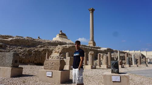 The Pompey's Pillar, Alexandria, Egypt.