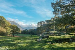 The greenest valley? (chromaphoto uk) Tags: snowdonia wales cymru northwales green valley trees sky clouds landscape beautiful shadows rocks grass