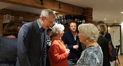 2018 0922 605 (SGS8+) Jeremy Vine, Simon Mayo, Pat; Appledore; The Royal George; ABF Friends' VIP Dinner (Lucy Melford) Tags: samsunggalaxys8 appledore book festival friends vip dinner jeremy vine