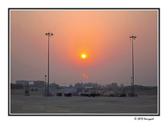 late evening sun (harrypwt) Tags: harrypwt srilanka colombo borders framed canons95 s95 southasia newdelhi airport sunset flare