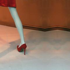 exit stage left (msdonnalee) Tags: mannequin lessismore leg redshoe minimalism fashion shoe
