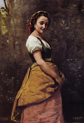 Camille Corot - Young Woman in the Woods, 1865 at Bridgestone Museum of Art Tokyo Japan (mbell1975) Tags: tokyo tokyoprefecture japan jp camille corot young woman woods 1865 bridgestone museum art museo musée musee muzeum museu musum müze museet finearts gallery gallerie beauxarts beaux galleria painting impression impressionist impressionism french portrait
