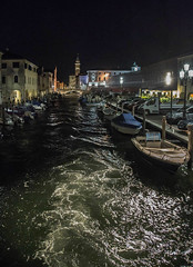 (nadiaorioliphoto) Tags: chioggia laguna b city night notturna città notte ponte water boat barca canale