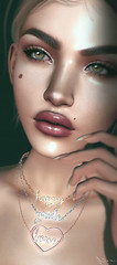 Never ever gonna sell my soul (Neva Valon) Tags: michan aviglam ag lyrium jewellery jewelry pose poses closeup portrait face necklace peace love lashes sl secondlife beauty female woman pixel virtual avatar happy catwa