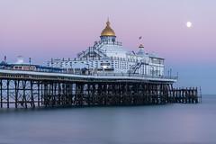 Pastel Pier (sarah_presh) Tags: eastbourne pier eastsussex england uk greatbritain south seaside sea ocean longexposure leefilters lee6stop moon autumn pink nikond750 nikon