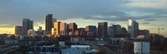 Denver, CO   2018.10.23   Sunrise over the Denver Skyline (Kaemattson) Tags: denver co colorado frontrange milehigh milehighcity sunrise cityscape landscape skyline
