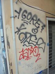 455 (en-ri) Tags: gore ozes asmo nero rosso tag genoa zena wall muro graffiti writing revs tajjr