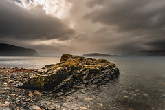 Storm imminent (JRPics.) Tags: autumn watterfall landscape storm island westcoast water mountains land boats isleofmull sea scotland outside rivers lochnakeal seascape darksky coast rocks nature