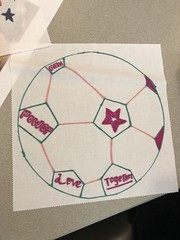 2018_T4T_DC United Leidos Event 9 (TAPSOrg) Tags: taps tragedyassistanceprogramforsurvivors teams4taps dcunited soccer mls leidos sponsor arlingtonva hq 2018 military indoor vertical detail closeup quilt drawing art