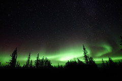 I Think UFO Is Going To Land There (ificouldreadmymind) Tags: aurora yellowknife night sky star nor northernlight canada