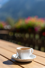 coffe (©Andrey) Tags: sel55f18z sonnartfe1855 a7rii pleasure vacation france french alps chamonix autumn september cofe hotel brackfest terasse bokeh