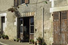 2/31: Boulangerie (judi may) Tags: october2018amonthin31pictures textures peelingpaint boulangerie france gouex building architecture windows doors canon5d plantpots ruralfrance