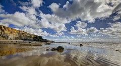 Remember me (pauldunn52) Tags: beach temple bay traeth mawr glamorgan heritage coast wales clouds sun cliffs reflections